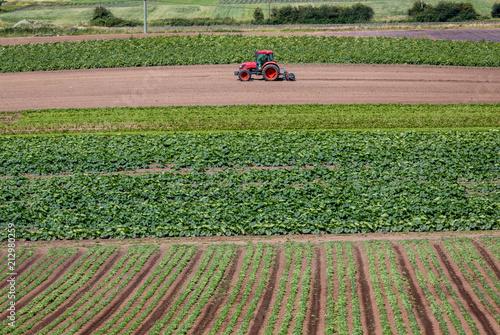 Aluminium Trekker Farm tractor working on a crop farm in Canada