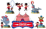 A Set of Circus Element - 212980815