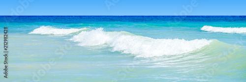 Fotobehang Tropical strand Waves Background