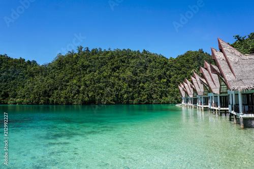Fotobehang Tropical strand PARADISE HUTS [SIARGAO, PHILIPPINES]