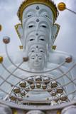 A cloudy photo of Five buddhas statue at Wat Phra Thad Pha Son Kaew Temple. Khao-kho, Phetchaboon Distict, Thailand. - 212999243