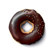 Stock vector illustration realistic donut. Chocolate glaze. Brilliant edible balls. EPS10