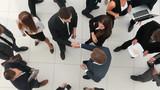 Handshake between competitors before the start of business negot - 213008019
