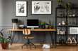 Posters in natural home office - 213010484