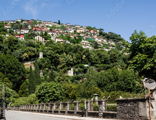 village in a privileged position on a hill overlooking Como Lake,Italy