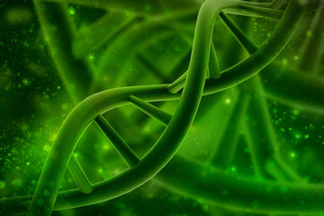 3d render of dna structure, abstract background © jijomathai