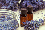 lavender body care products. Aromatherapy, spa and natural healthcare concept - 213028643