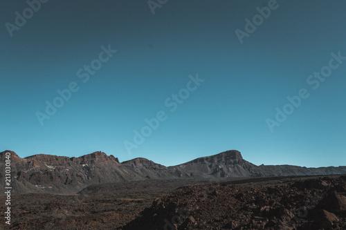Foto Spatwand Groen blauw Nature and landscapes in Vulcanic Tenerife