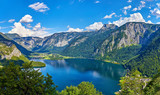 Panoramic view on Austrian mountains Alps lake Hallstattersee - 213031895