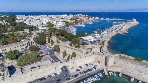 Wall mural Aerial drone photos of Rhodes, Greecec