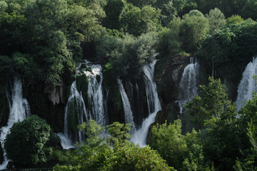 Kravice Waterfalls landscape in the mountains, Bosnia and Herzegovina