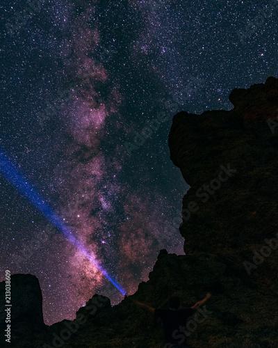 Aluminium Heelal Astrophotography Milkyway in Tenerife