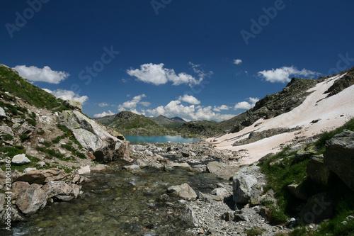 Fotobehang Nachtblauw Sofiyskie lakes, Arkhyz