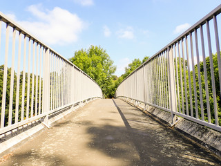 Pedestrian footbridge, Rickmansworth, Hertfordshire, UK © Peter Fleming
