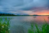 Hopfensee in Bayern Sonnenuntergang am Wasser