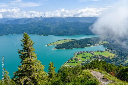 Foto Murales Blick auf den Walchensee in Bayern im Sommer