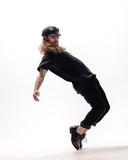 Young beautiful dancer posing in the studio - 213055008