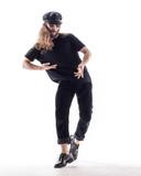 Young beautiful dancer posing in the studio - 213055251