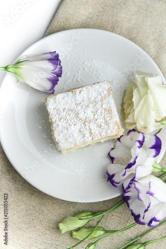 Poster Vanilla cream cake