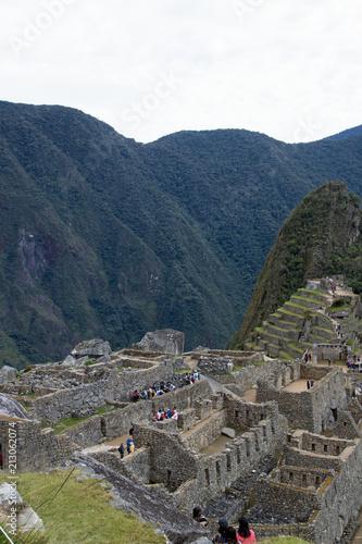 Fotobehang Nachtblauw Machu Picchu, Peru