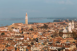 Skyline of Venice from Campanile in San Marco square. Italy.