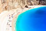 One of the most beautiful beaches of Greece- Porto Katsiki in Lefkada.Ionian islands