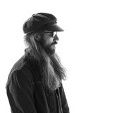 Young male with sunglasses and beard - 213070424