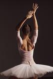 Young beautiful ballerina is posing in studio - 213073266