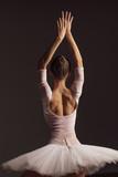 Young beautiful ballerina is posing in studio - 213073280
