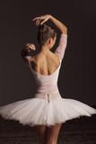 Young beautiful ballerina is posing in studio - 213073453