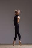 Young beautiful ballerina is posing in studio - 213073697