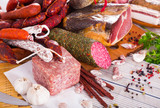 Variety of meats on table - 213074444