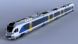 High speed aerodynamic train. 3d rendering