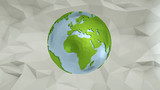 Earth globes isolated on abstract background. 3D Rendering