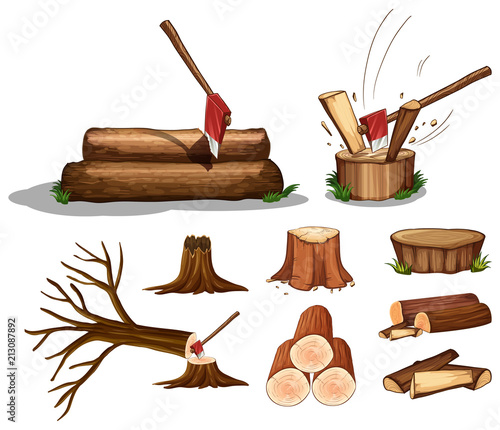 A Set of Tree and Wood - 213087892
