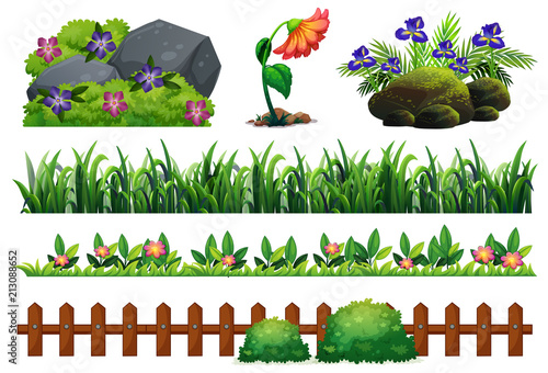 Wall mural A Set of Garden Element