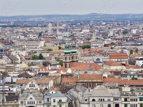 Beautiful cityscape of Budapest and the Danube River during summer - 213090058