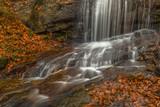 Wodospad na Potoku Dusica w Beskidzie Małym