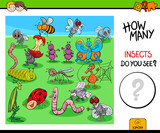 counting insects and bugs educational game - 213094005