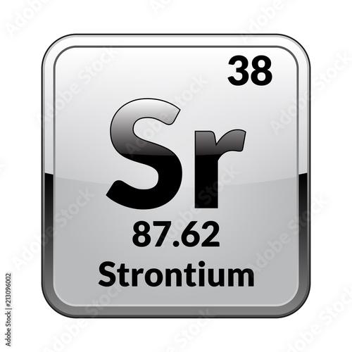 The Periodic Table Element Strontiumctor Buy Photos Ap