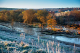 Frozen morning landscape - 213096298