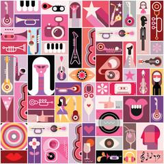 Pop Art Musical Collage