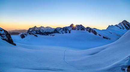 Mountain morning in winter II