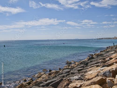 Foto Murales Fisherman at Port of Orihuela Alicante Spain