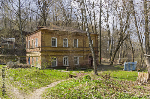 Fototapeta An old two-storey brick house in the center of Smolensk, Russia.