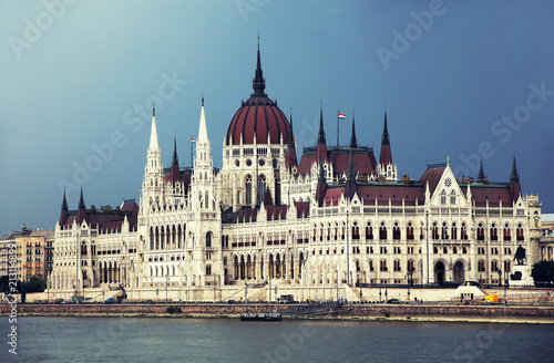 Fotobehang Boedapest The Hungarian Parliament Building, also known as the Parliament of Budapest.One of Europe's oldest legislative buildings, a notable landmark of Hungary and a popular tourist destination of Budapest