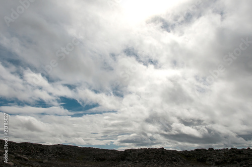 Poster Bonita paisagem vulcânica na Islândia