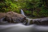 Tropical jungle waterfall on Maui