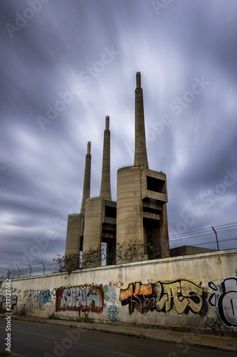 Canvas Barcelona Sant Adrià de Besòs power plant near Barcelona