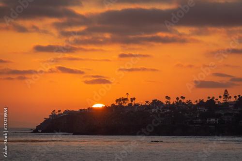 Aluminium Oranje eclat Beautiful Sunset at Laguna Beach